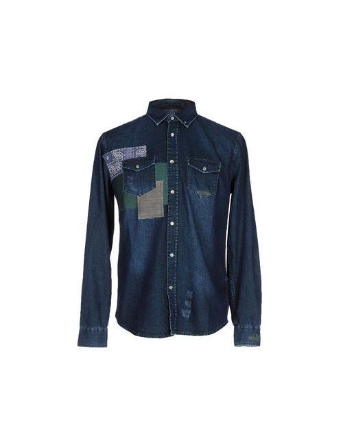 Desigual | Мужская Синяя Джинсовая Рубашка