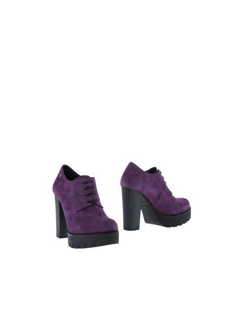 Cuplé   Мужская Фиолетовая Обувь На Шнурках
