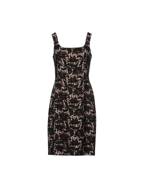 Alexander McQueen | Женское Чёрное Платье До Колена