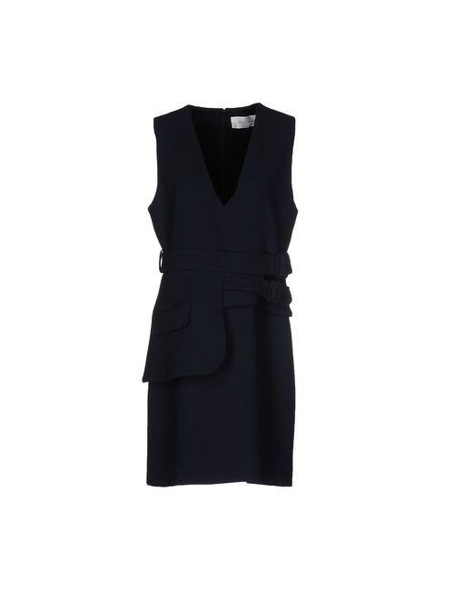 Victoria Beckham | Женское Синее Короткое Платье