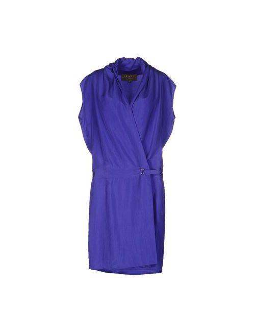 Space Style Concept   Женское Фиолетовое Платье До Колена