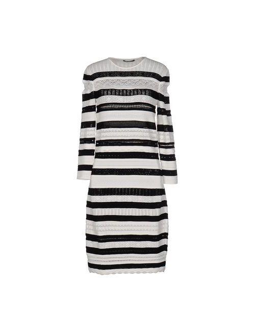 Alexander McQueen | Женское Белое Короткое Платье