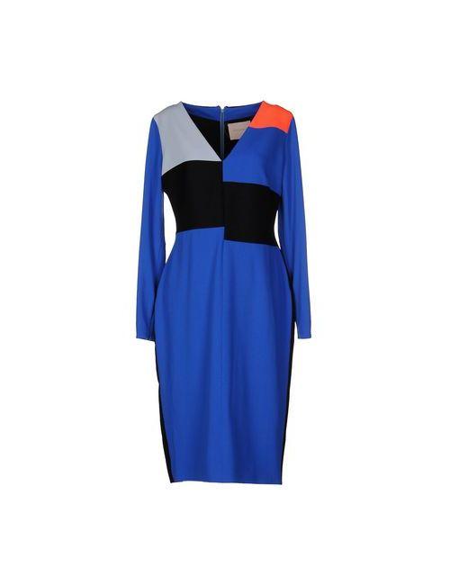 ROKSANDA | Женское Синее Платье До Колена