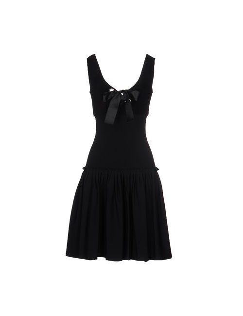 Alexander McQueen | Женское Чёрное Короткое Платье