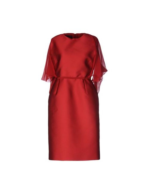 Giambattista Valli   Женское Красное Платье До Колена