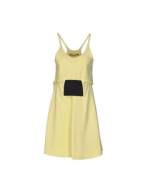 Balenciaga | Женское Жёлтое Короткое Платье