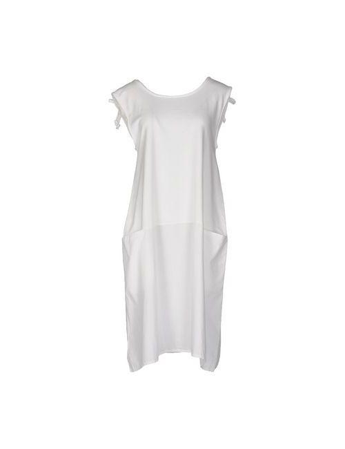 INTROPIA | Женское Белое Платье До Колена