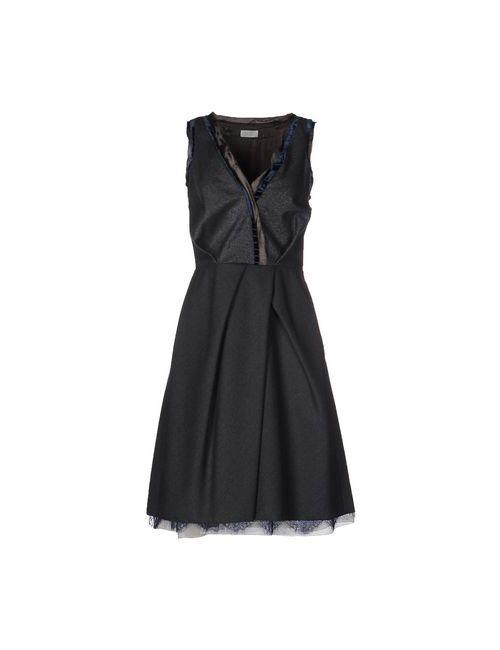 Nina Ricci | Женское Серое Платье До Колена