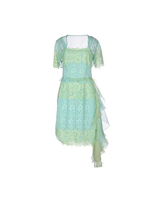 Blumarine | Женское Зелёное Платье До Колена