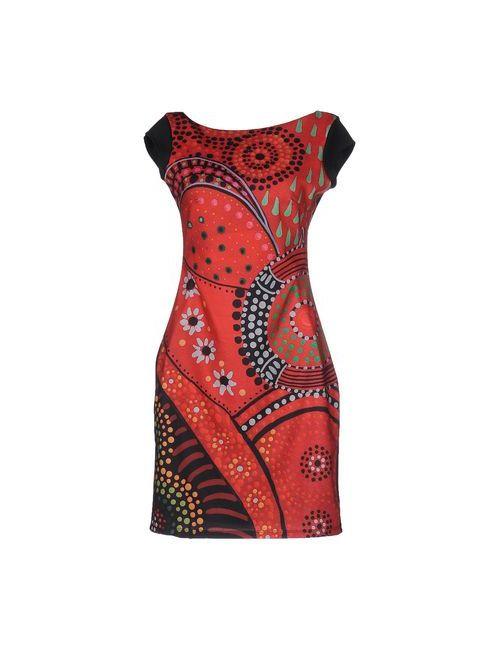 Desigual | Женское Красное Короткое Платье