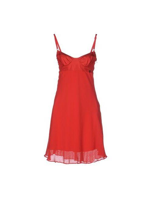 Galliano | Женское Красное Короткое Платье