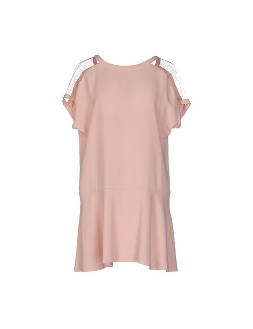 Red Valentino | Женское Розовое Короткое Платье