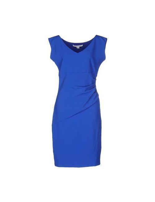 Diane Von Furstenberg   Женское Синее Платье До Колена
