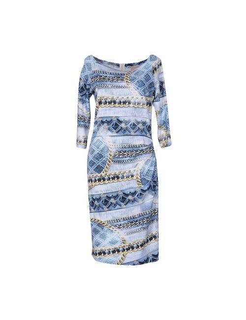 Coccapani Trend | Женское Синее Платье До Колена