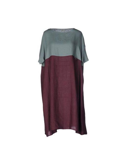 A.B  APUNTOB | Женское Фиолетовое Платье До Колена