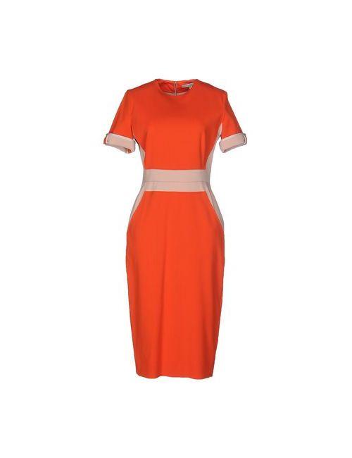 Victoria Beckham   Женское Оранжевое Платье До Колена