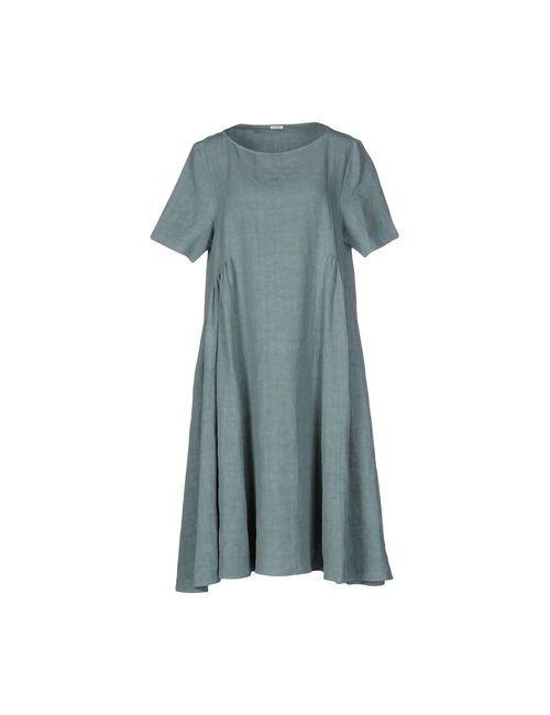 A.B  APUNTOB | Женское Серое Платье До Колена