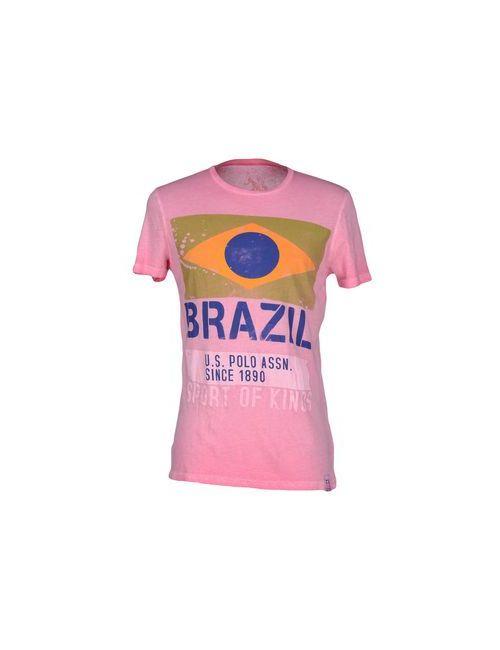 U.S. Polo Assn. | Женская Фиолетовая Футболка