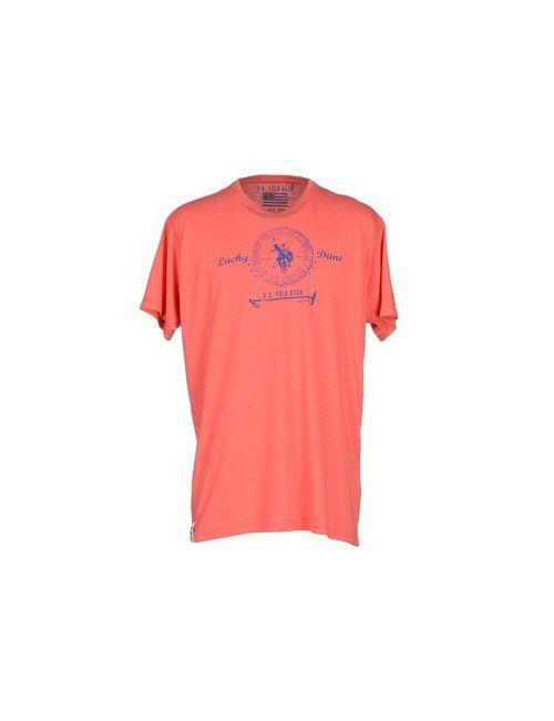 U.S. Polo Assn. | Женская Розовая Футболка