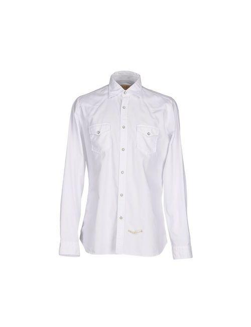 Tintoria Mattei 954 | Мужская Белая Pубашка