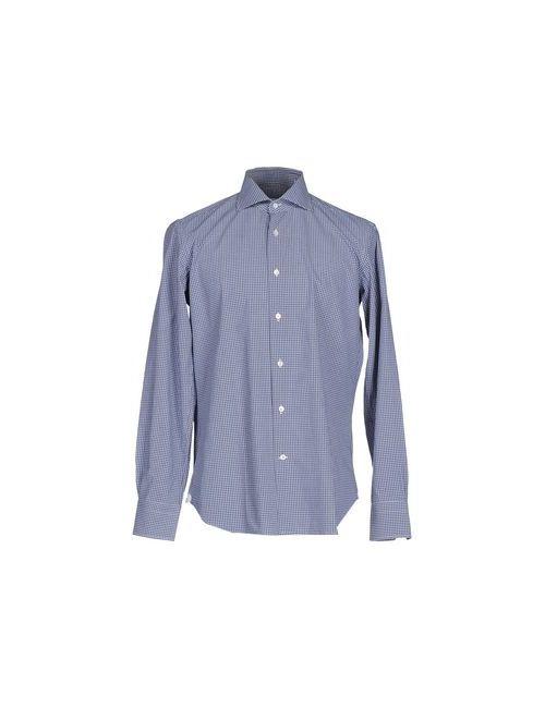 Borsa | Мужская Синяя Pубашка