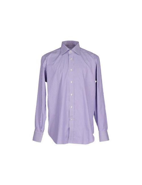 Caliban | Мужская Фиолетовая Pубашка