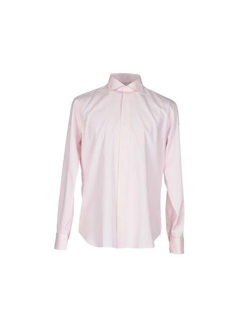 PAOLO VERRI | Мужская Розовая Pубашка