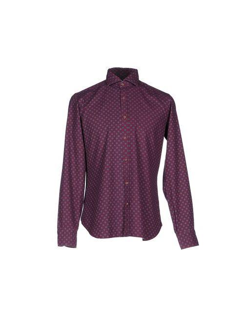 DANDYLIFE BY BARBA | Мужская Фиолетовая Джинсовая Рубашка
