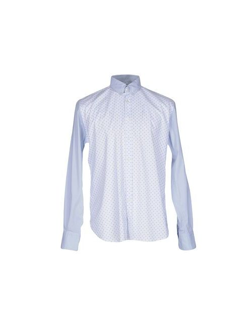De Siena   Мужская Белая Pубашка