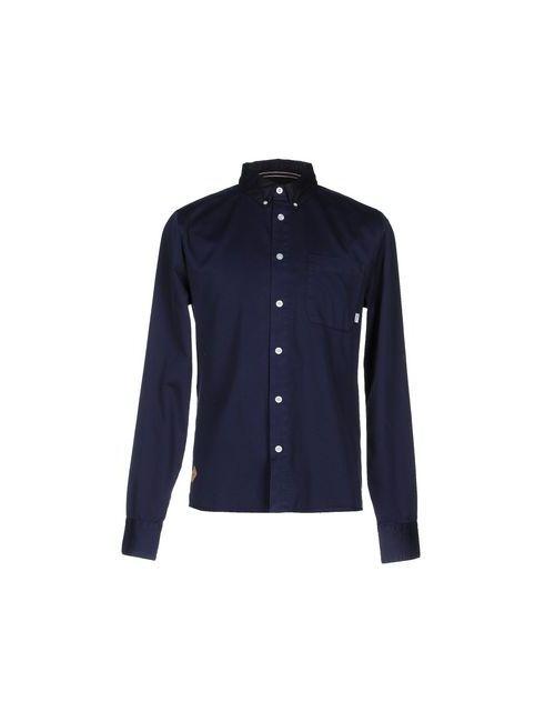 Rvlt/Revolution | Мужская Синяя Pубашка
