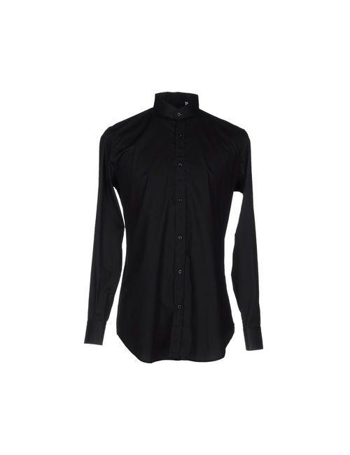 Minimal | Мужская Чёрная Pубашка