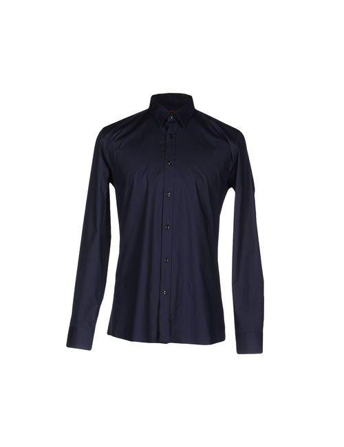 Hugo | Мужская Синяя Pубашка