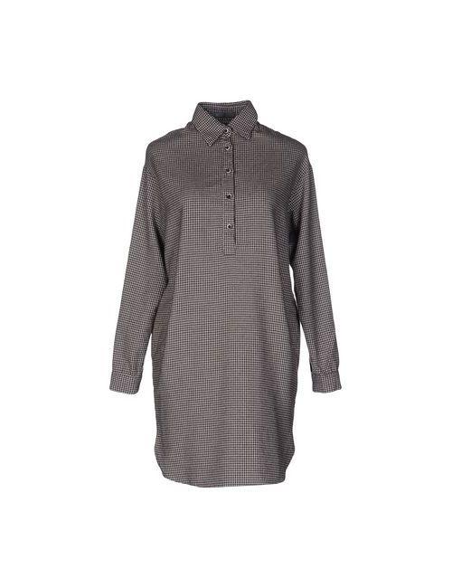 Mu | Женское Какао Короткое Платье