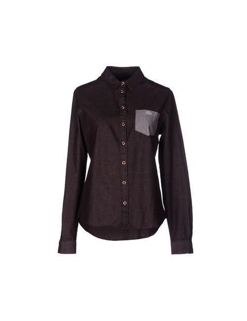 Lacoste L!Ve | Мужская Баклажанная Джинсовая Рубашка