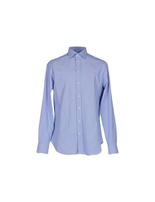 Armani Collezioni | Мужская Синяя Pубашка