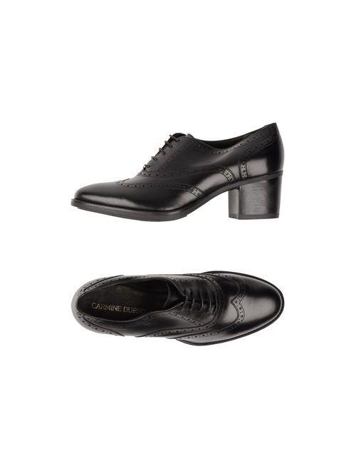 CARMINE DURSO | Мужская Чёрная Обувь На Шнурках