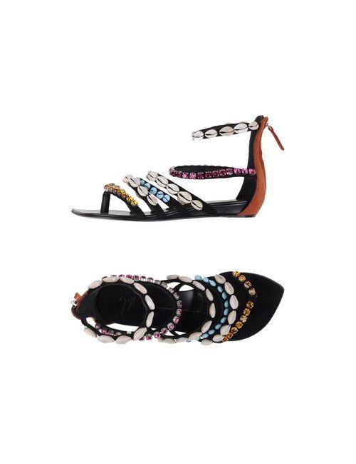 Giuseppe Zanotti Design | Женские Чёрные Вьетнамки