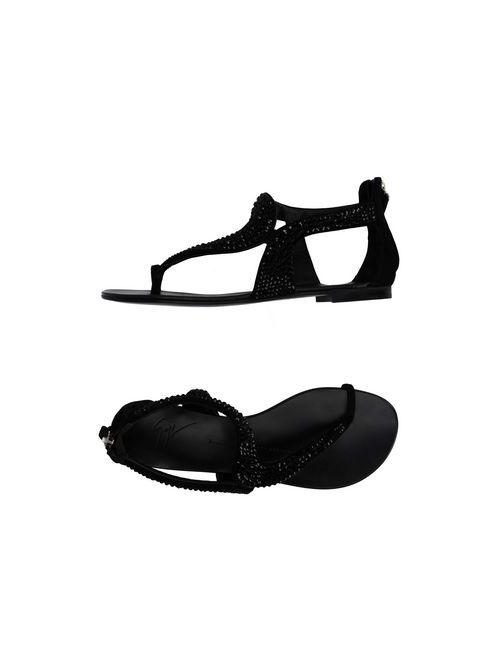 Giuseppe Zanotti Design   Женские Чёрные Вьетнамки