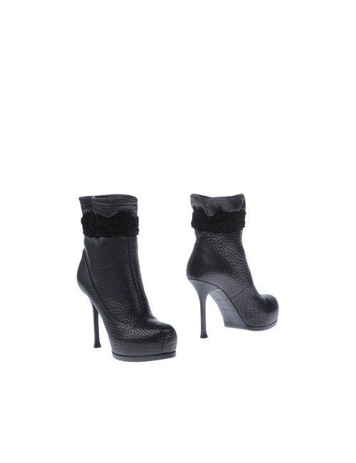 Ysl  Rive Gauche | Женские Чёрные Полусапоги И Высокие Ботинки