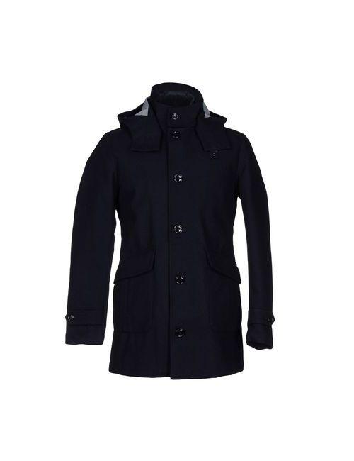 Blauer | Мужское Синее Пальто