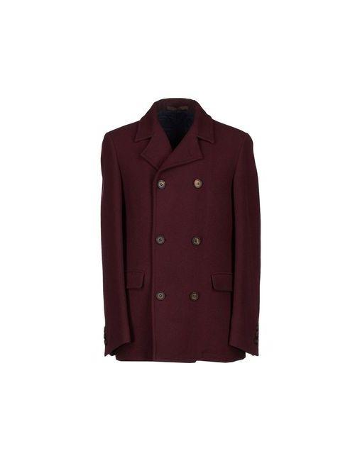 Eleventy | Мужское Баклажанное Пальто