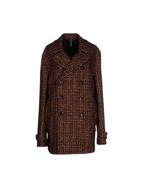 Montedoro | Мужское Баклажанное Пальто