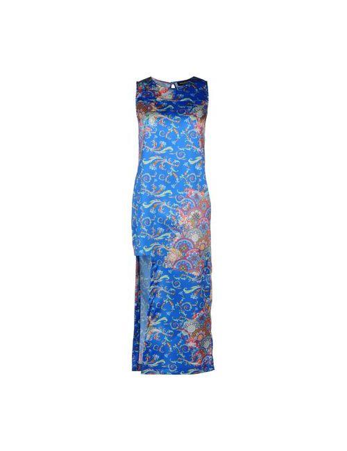Adele Fado | Женское Синее Длинное Платье