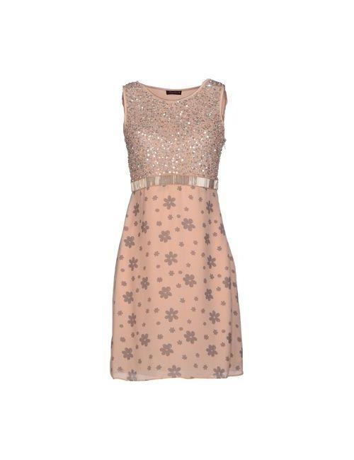 Angelina Folies | Женское Розовое Короткое Платье