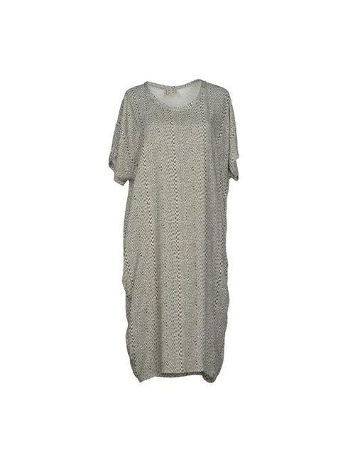 Douuod | Женское Серое Платье До Колена