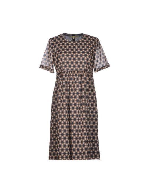 L' Autre Chose | Женское Хаки Короткое Платье