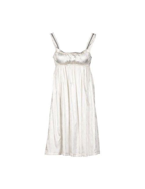 Guerriero | Женское Слоновая Костящее Короткое Платье