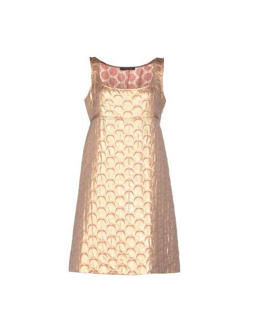 L' Autre Chose | Женское Платиновое Короткое Платье