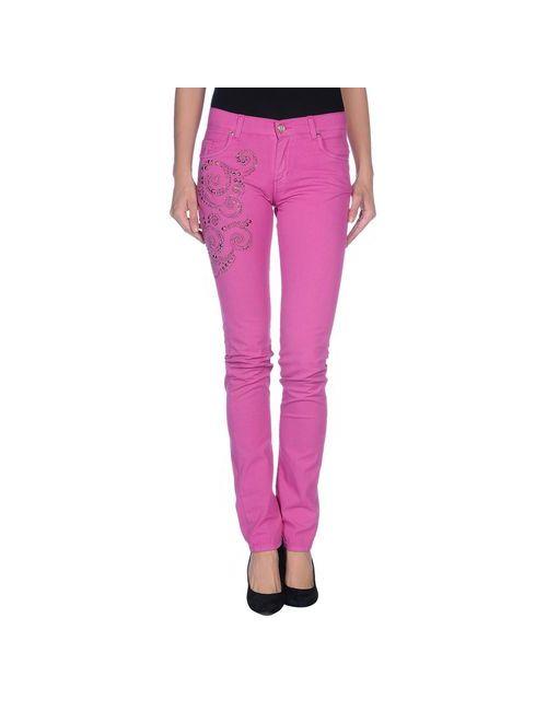 Versace Jeans   Женские Фуксии Повседневные Брюки
