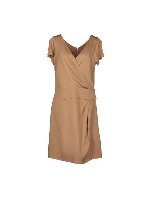 Emporio Armani | Женское Песочное Короткое Платье